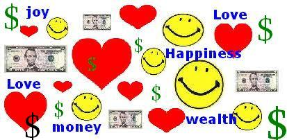 love money happiness